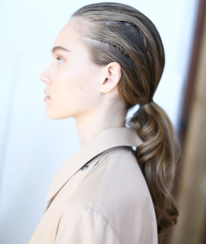 laidback wedding ponytail