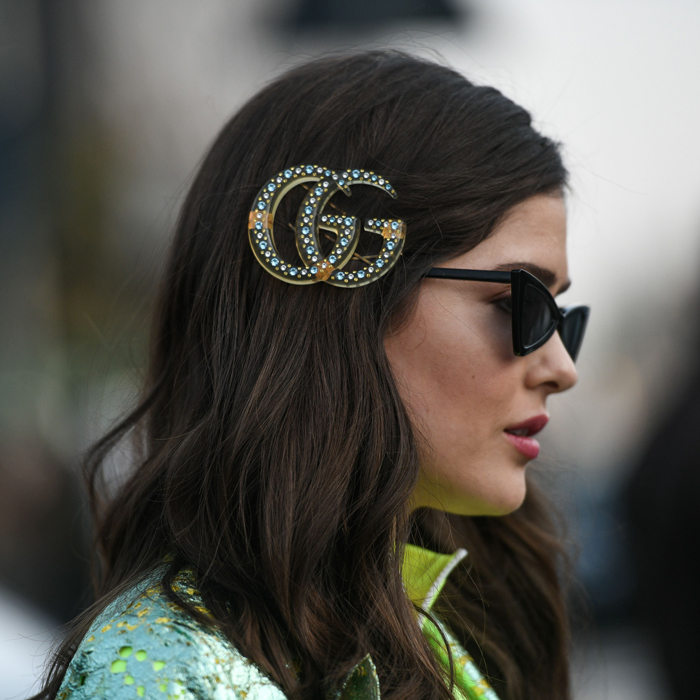 hair accessories at fashion week