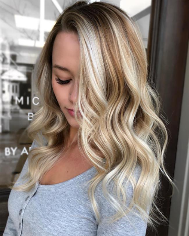 chardonnay blonde via ashlee allen hairdresser