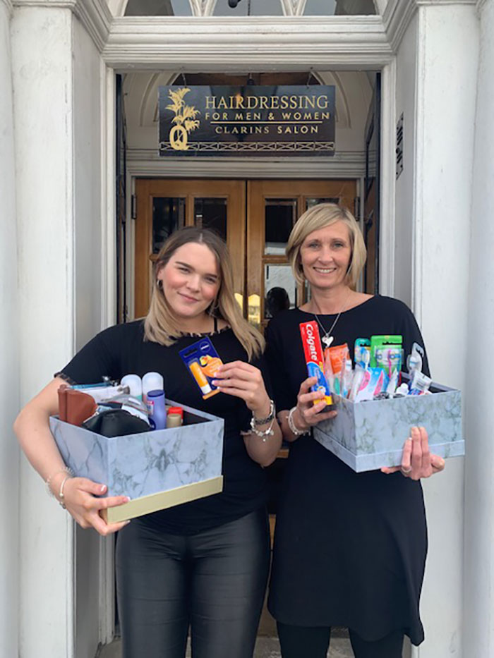 q hair and beauty helps homeless