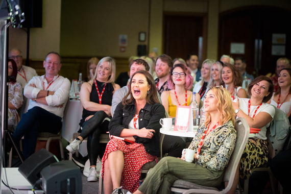 audience at wella business network live
