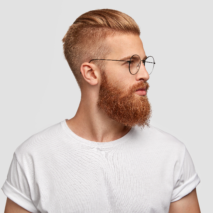 beard grooming tips - man with beard and glasses