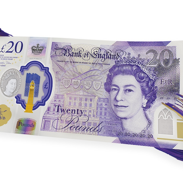 new style £20 bank note