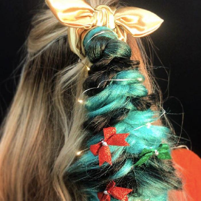 festive hair