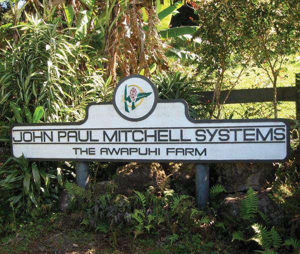 John paul Mitchell Systems Awapuhi farm