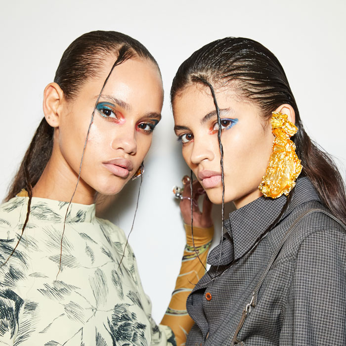 wet look hair at aw20 charlotte knowles