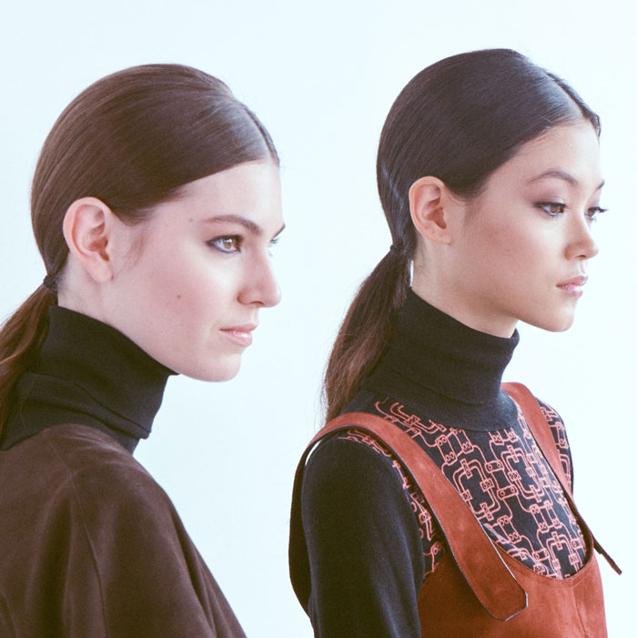 ponytails at aw20 fashion week
