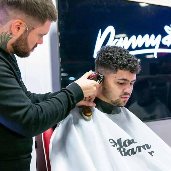 modern barber stage