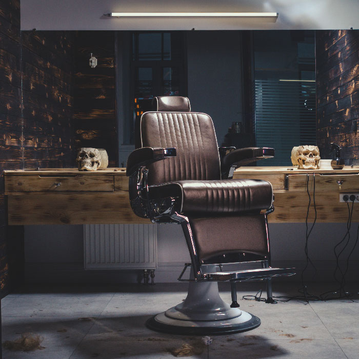 project men barber chair
