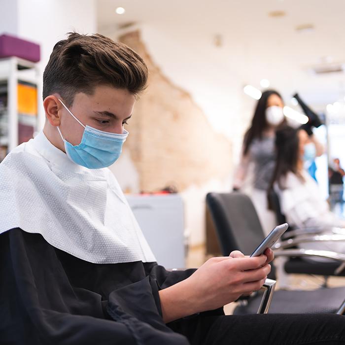 Client in Rush Hair using Zenoti