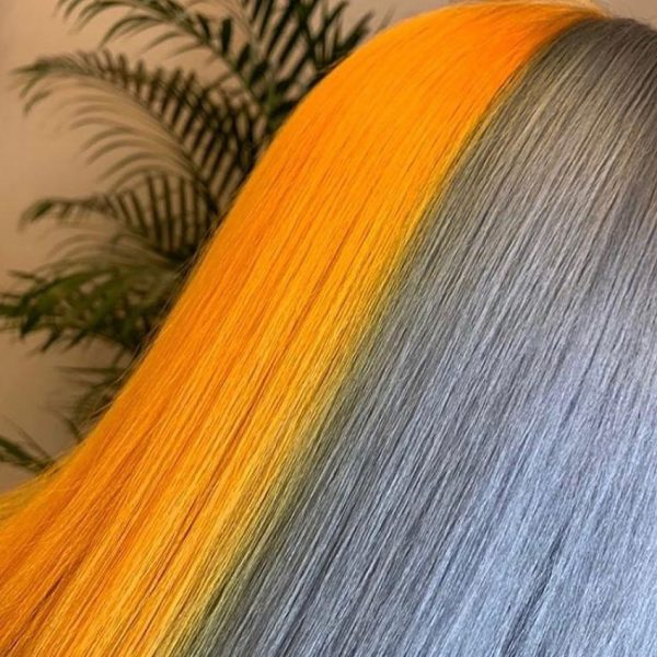 bright hair colour rri grey and yellow