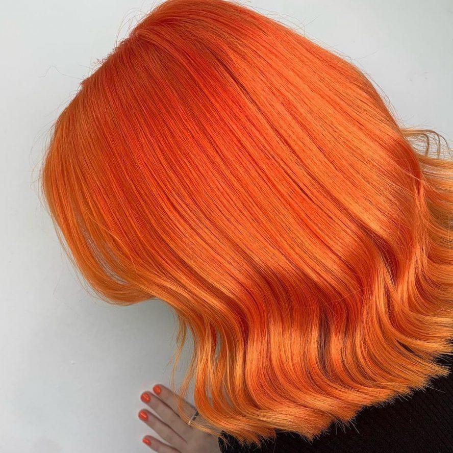 bright hair colour rri orange