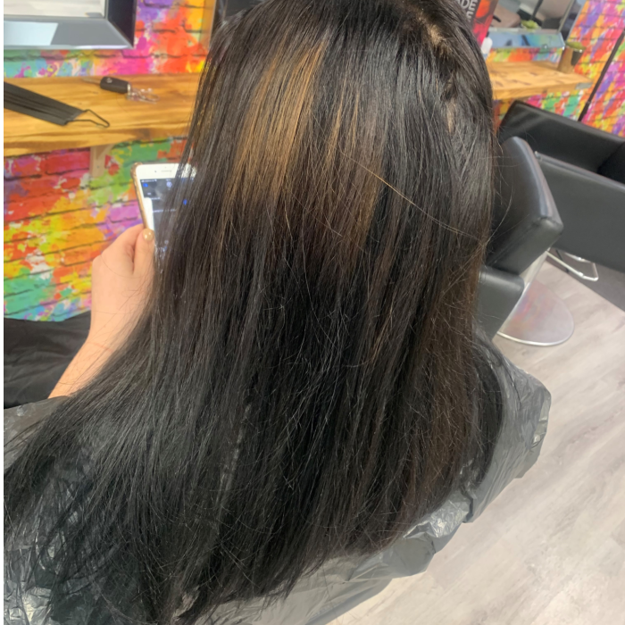 black box dye colour correct