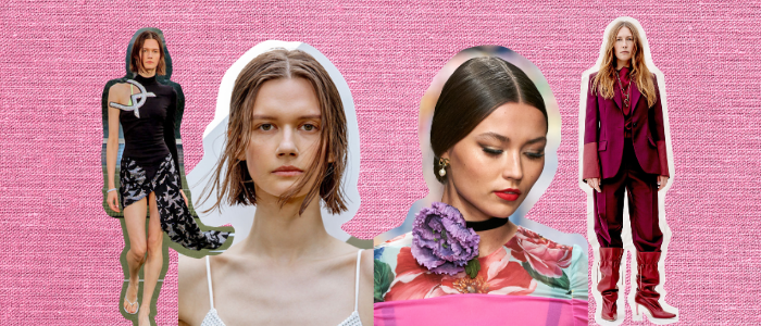 the middle parting hair trend