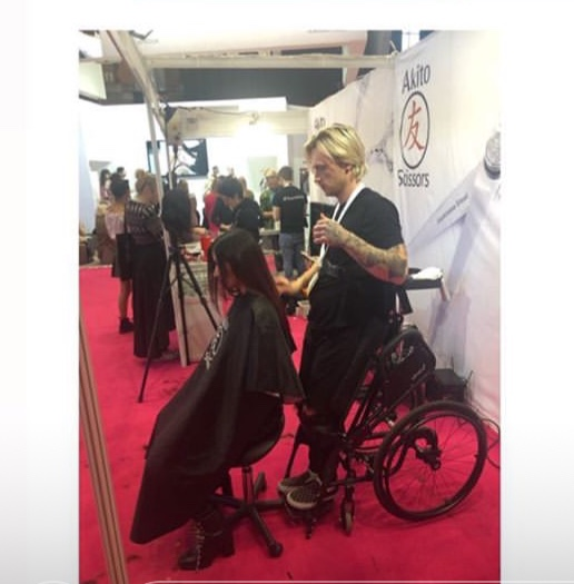 Mitch Chalmers disability hairdresser