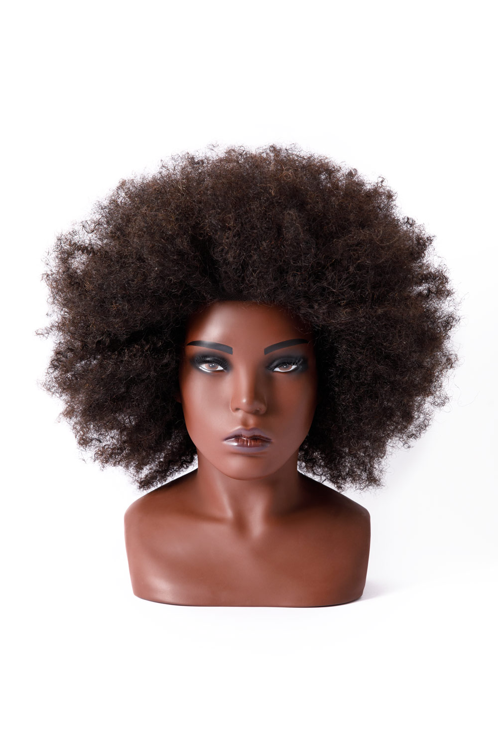 ebony afro doll head