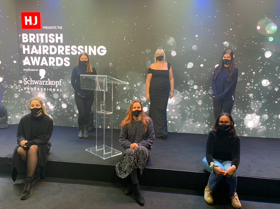 British hairdressing awards behind the scenes hj team