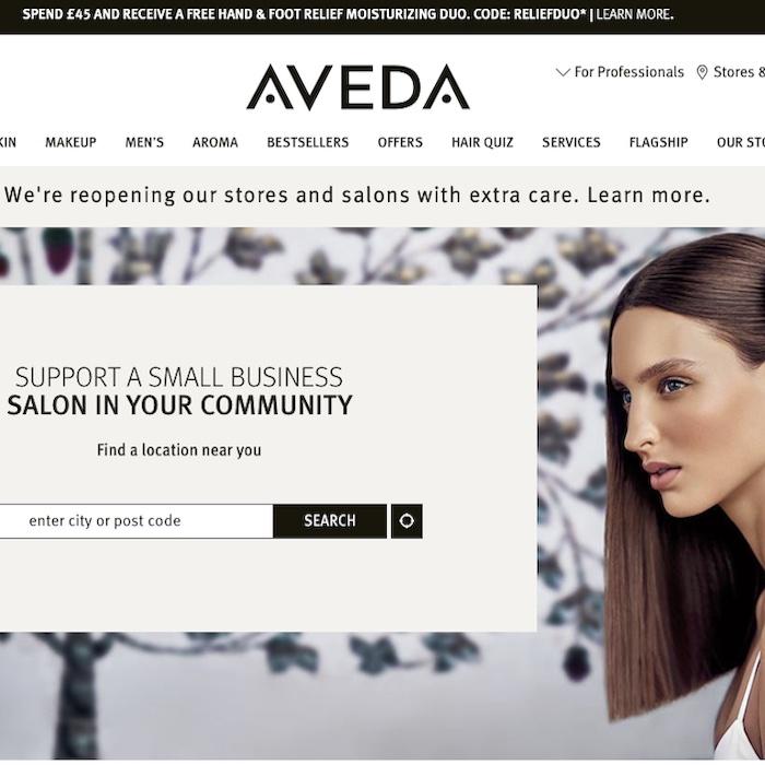 Aveda salon booking system