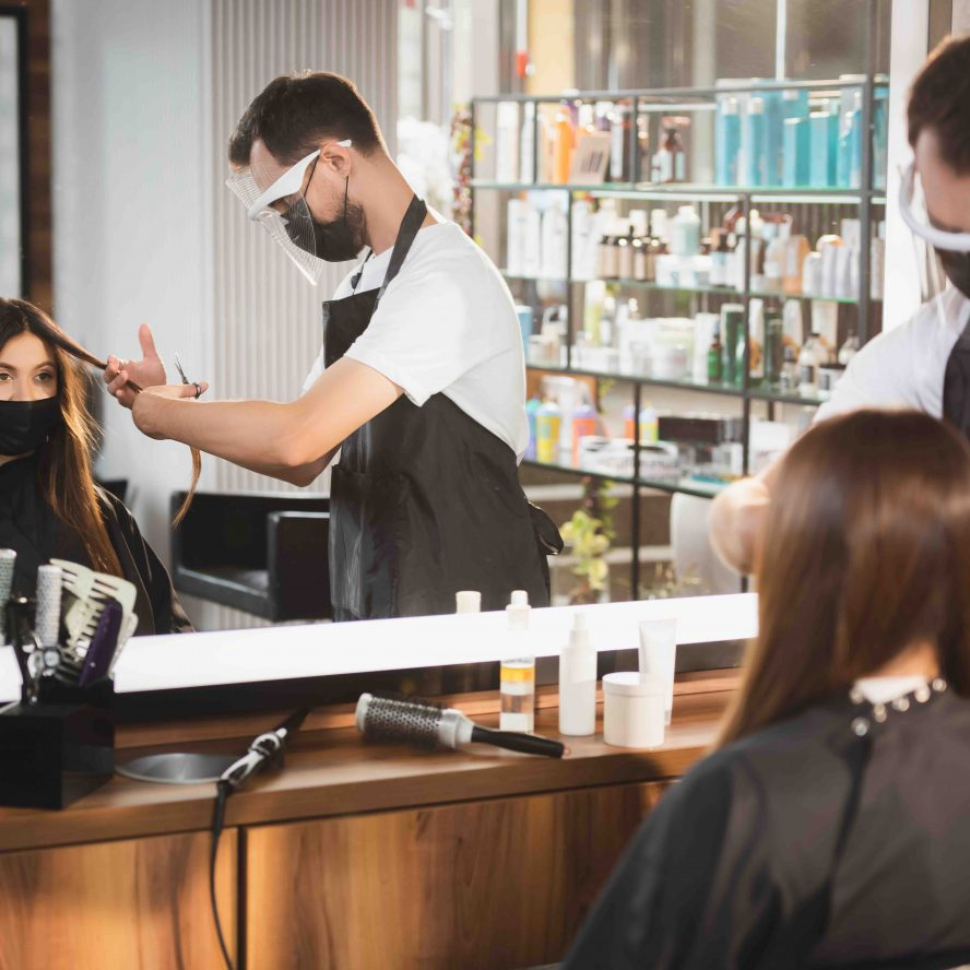 hair salon reopening