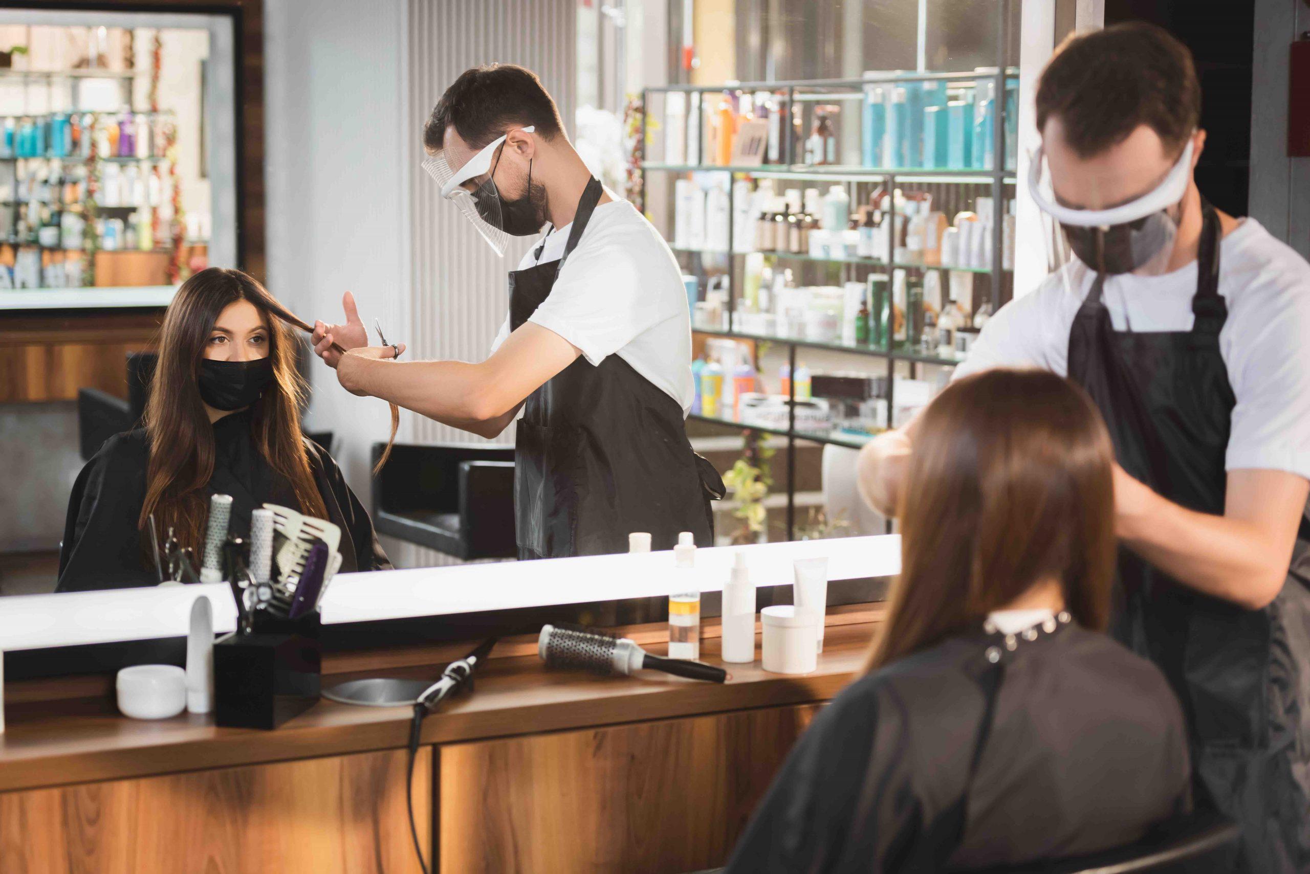 hair salon reopening