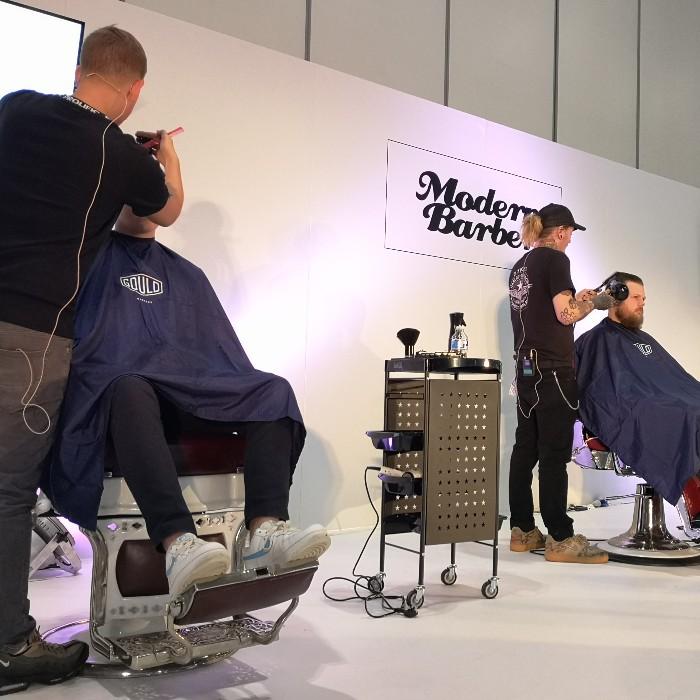 Modern Barber Stage at Salon International