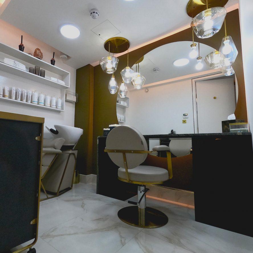 Inanch salon new basement floor