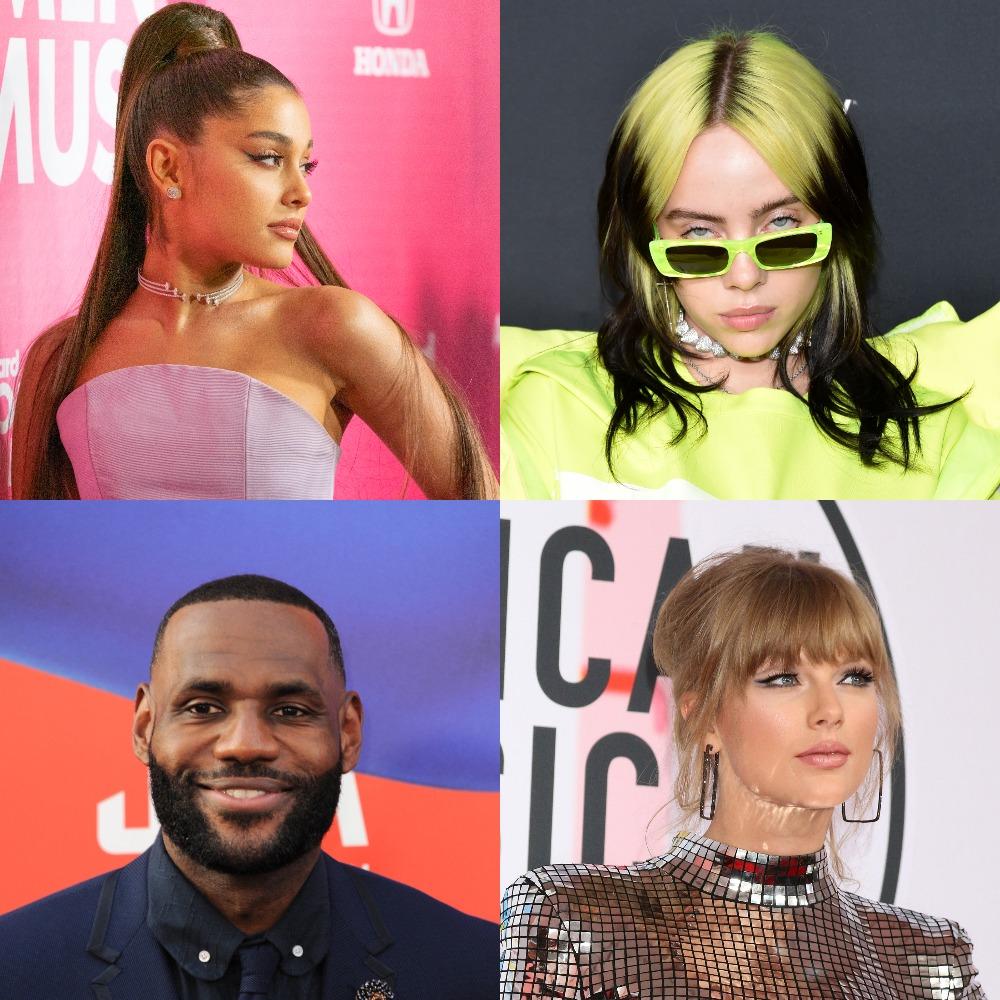 ariana grande billie eilish lebron james taylor swift celebrity hairstyles