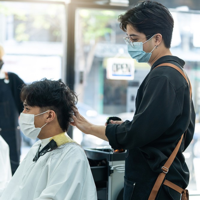 NHBF state of the industry survey lead image, man getting haircut at barbers