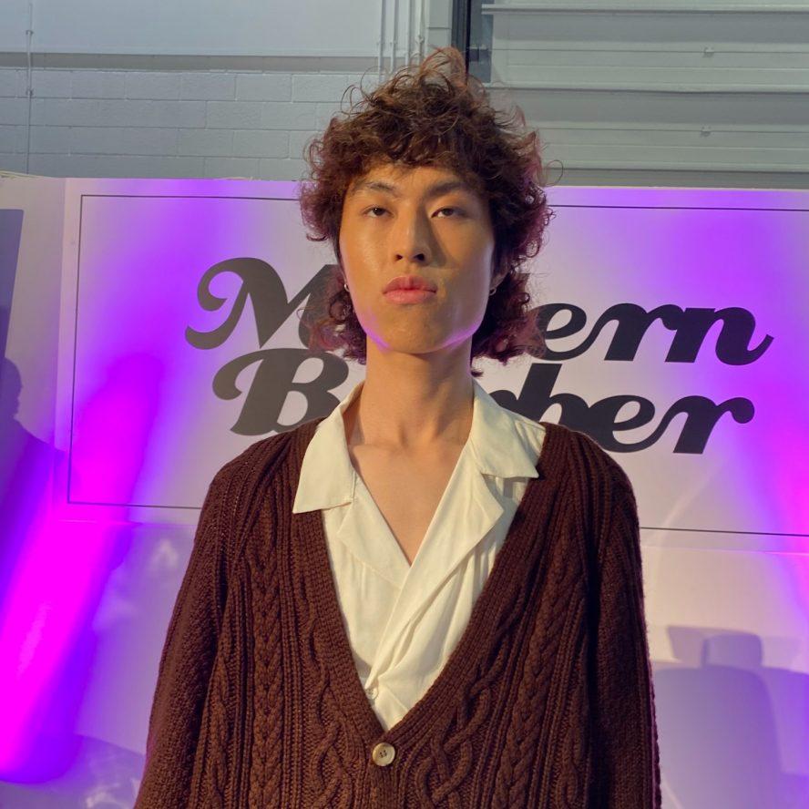 Curly cut on Modern Barber stage at Salon International